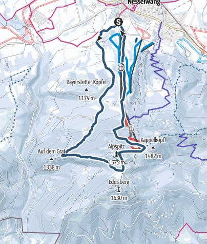 Map / Skitour über Bayerstetten auf die Alpspitz