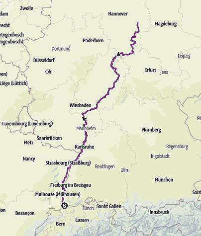 Karte / eBike2Braunschweig (Basel-Braunschweig)