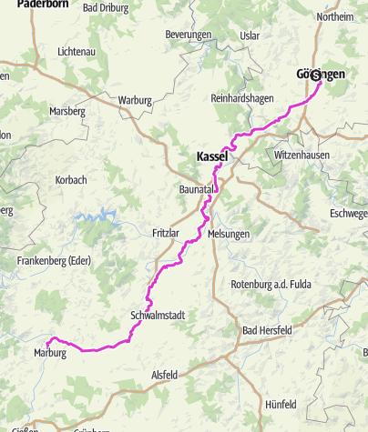 Karte / Göttingen-Marburg