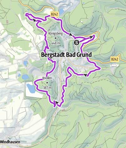 Karte / 125 Jahre MTV Bad Grund: König-Hübich-Route und Weltwald