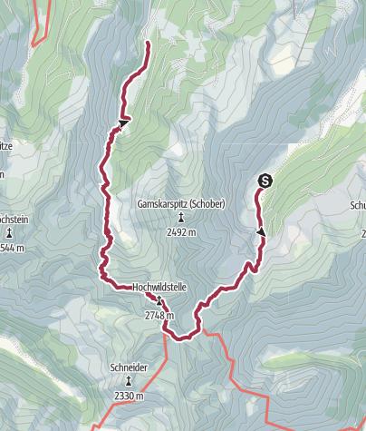 Karte / Vom Sattental über die Hochwildstelle ins Seewigtal