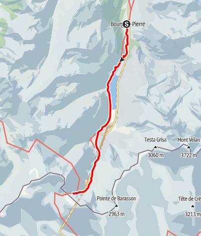 Kaart / Tour Grand St Bernard: Aufstieg zum Grand St. Bernard
