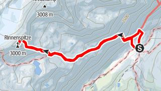 Kaart / Zur Rinnenspitze