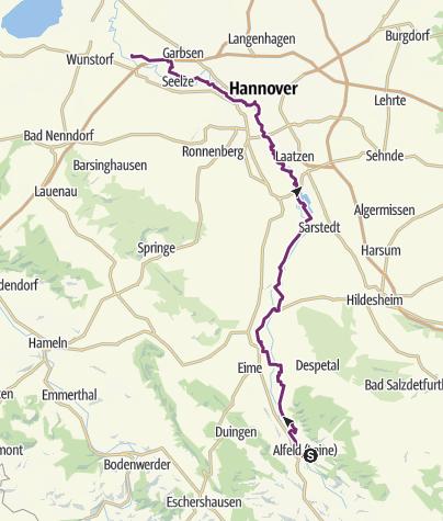 Karte / RS: alfeld - Schloss Ricklingen