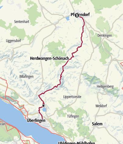 Karte / pfing 2013 tag 4/ Jakobsweg