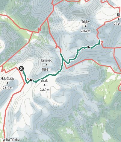 Karte / Zasavska koča na Prehodavcih (2071m) - Dom Planika (2401 m)