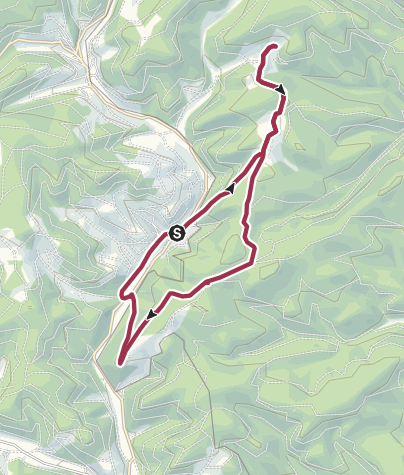 Karte / Alertshausen - Karlsburg - Dachsloch - Fallgrube - Burghelle - Alertshausen