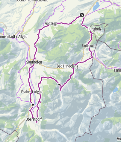 Map / Wertach-Sonthofen-Oberstdorf-Hindelang-Schattwald