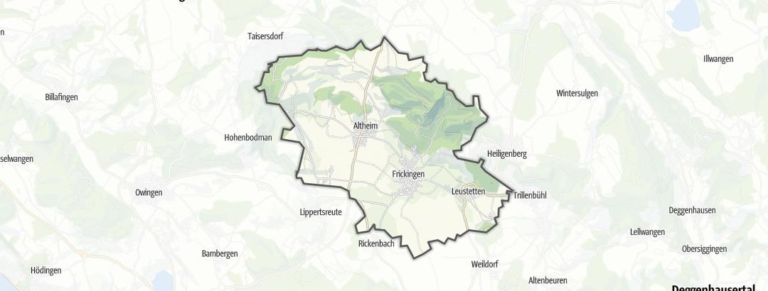 Karte / Rennradtouren in Frickingen