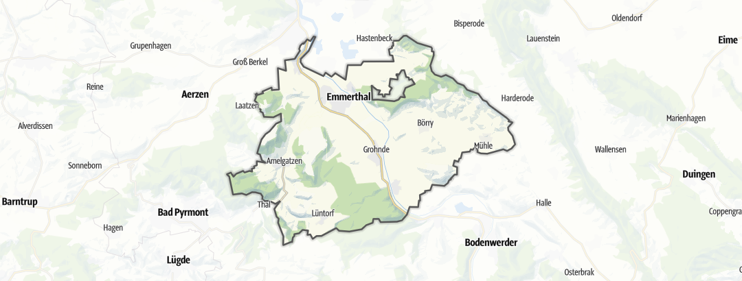 Karte / Pilgerwege in Emmerthal