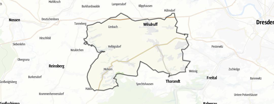 Karte / Wandern in Wilsdruff