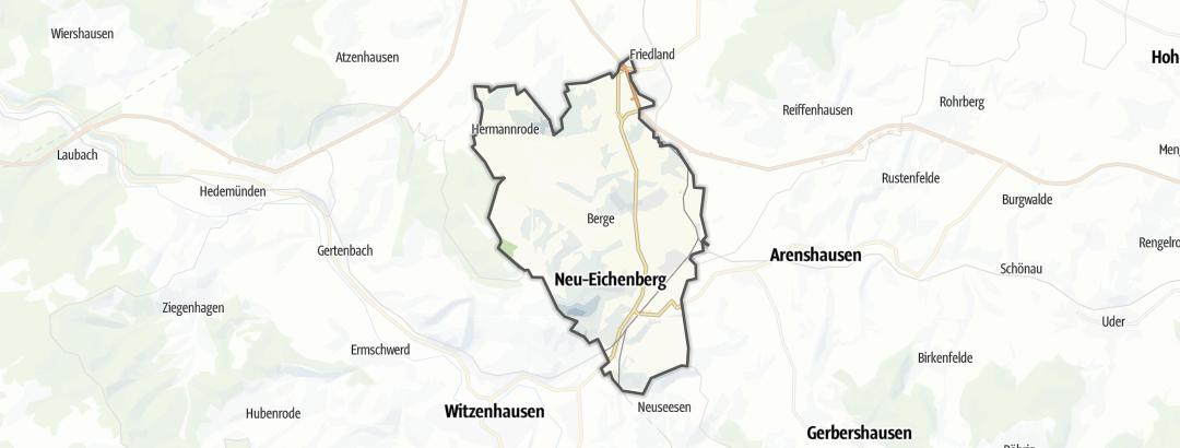 Karte / Rennradtouren in Neu-Eichenberg
