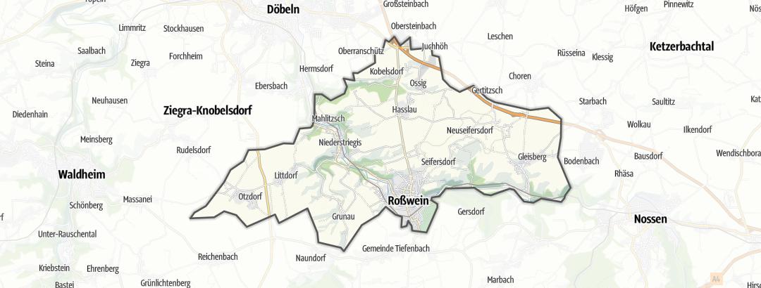 Karte / Wandern in Roßwein
