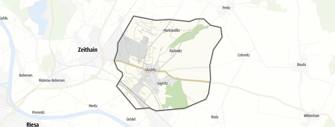 Karte / Wandern in Glaubitz
