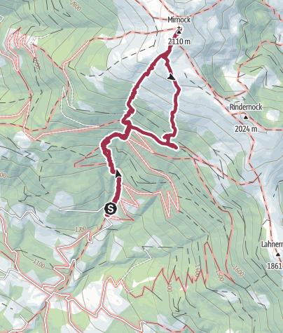 Karte / Mirnock über Gingerhütte 29. September 2013