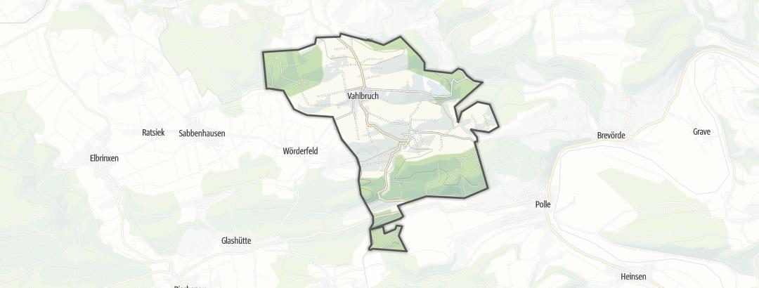 Karte / Wanderungen in Vahlbruch