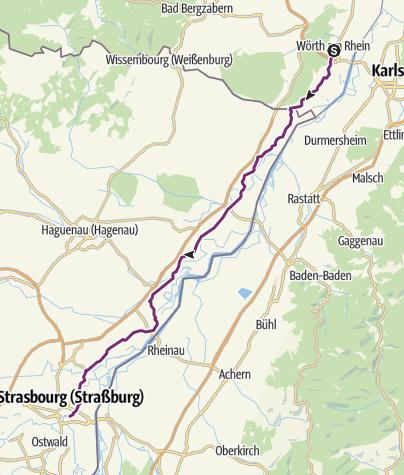 Carte / KT-2014-05-19-2.T:  Wörth a. Rhein - Straßburg