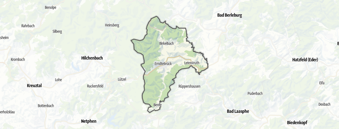 Karte / Radtouren in Erndtebrück