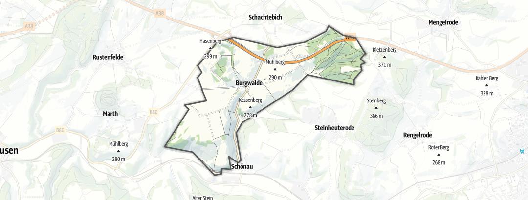 Karte / Touren in Burgwalde