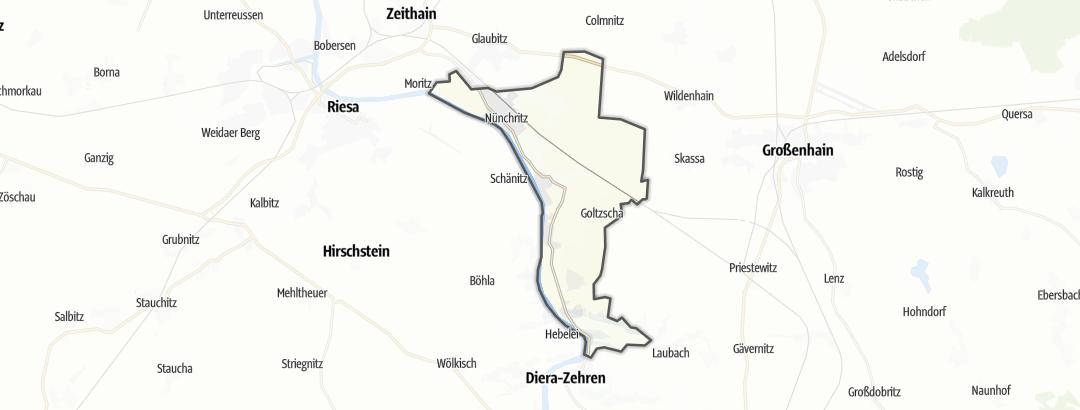 Karte / Unterkünfte in Nünchritz