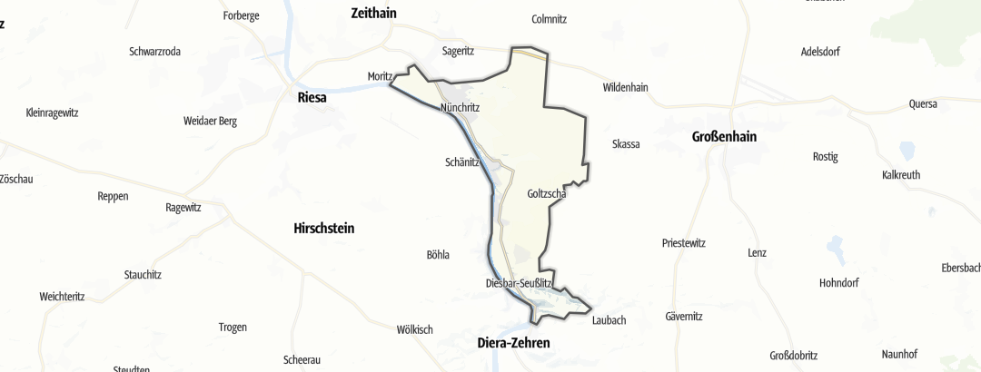 Karte / Wandern in Nünchritz