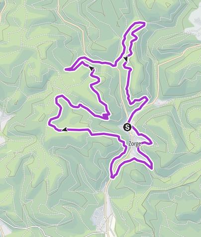 Karte / Zorger Waldlauf, 18km mit 600hm