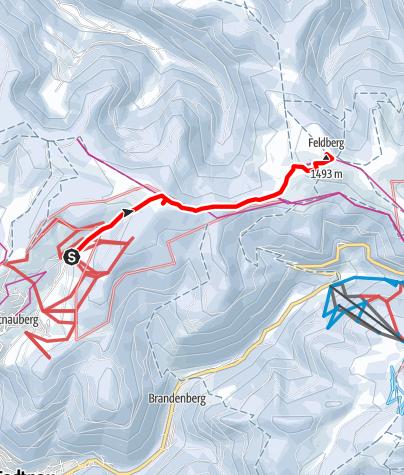 Karte / Todtnauberg- Feldberggipfel