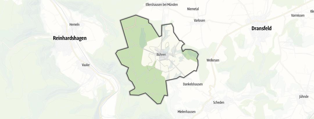 Karte / Radfahren in Bühren