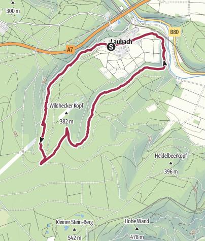 Karte / Wanderung um Laubach