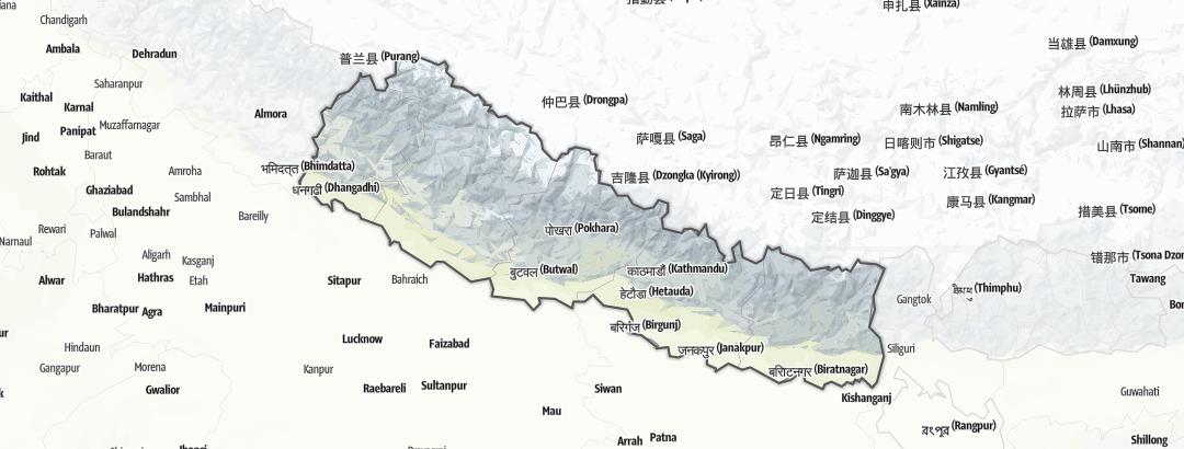 Karte / Angebote in Nepal