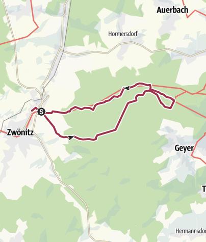 Karte / Von Zwönitz zum Greifenbachstauweiher