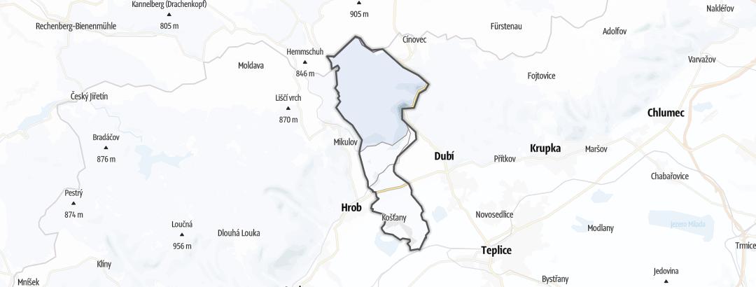 Map / Cross-country ski trails in Košťany