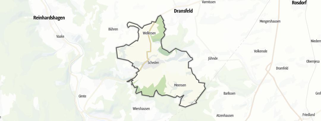Karte / Wanderungen in Scheden
