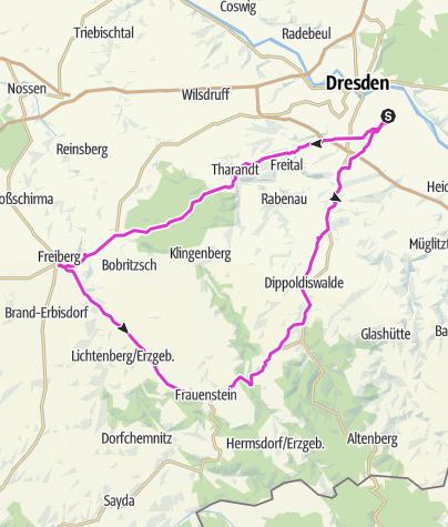 Karte / DD-Freiberg-Bannewitz-DD