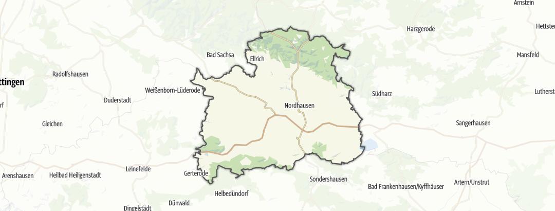 Karte / Rennradtouren in Nordhausen