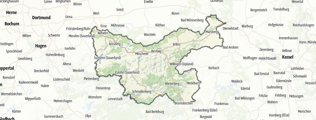 Kaart / Toeristen Informatie in Hochsauerlandkreis