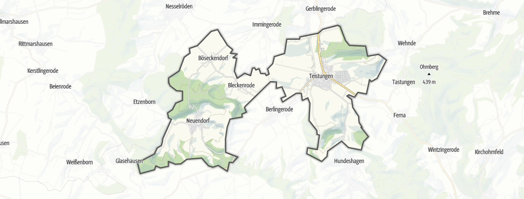 Karte / Wandern in Teistungen