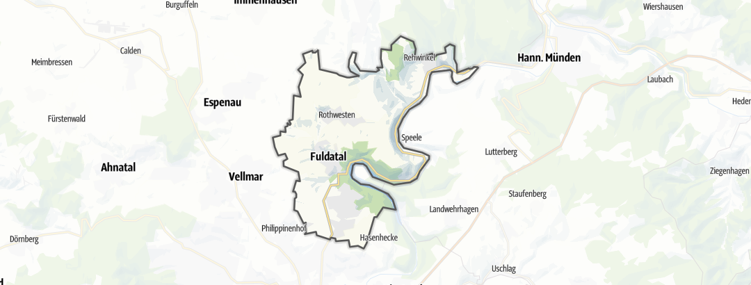 Karte / MTB-Touren in Fuldatal