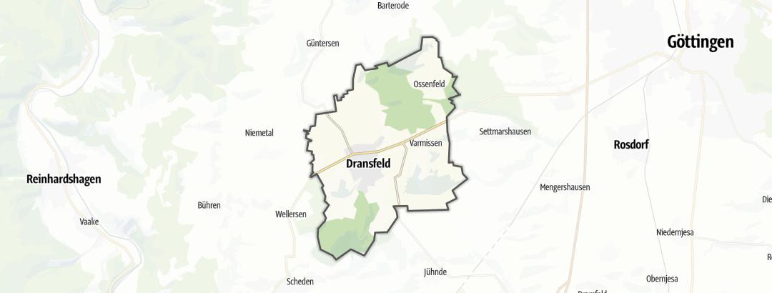 Karte / Sehenswürdigkeiten in Dransfeld