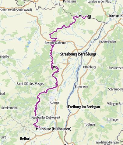 Carte / Traversée du Massif Vosgien