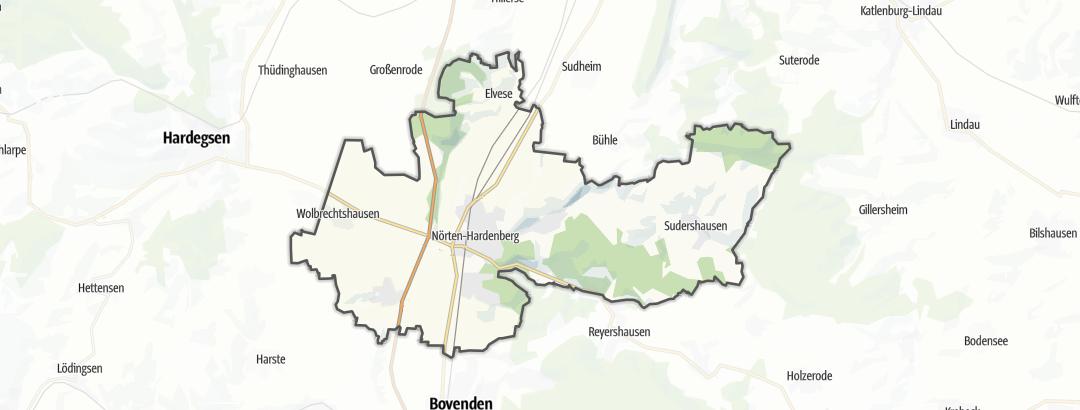 Karte / Radtouren in Nörten-Hardenberg