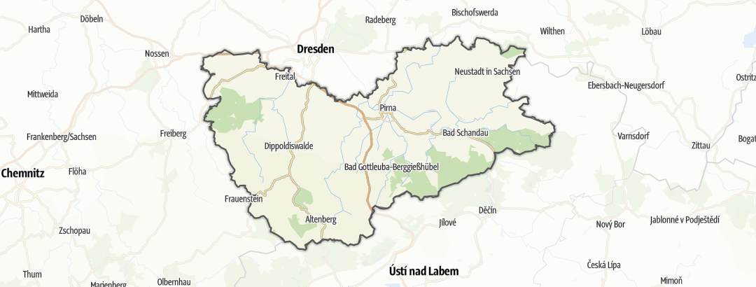 Map / Sächsische Schweiz-Osterzgebirge