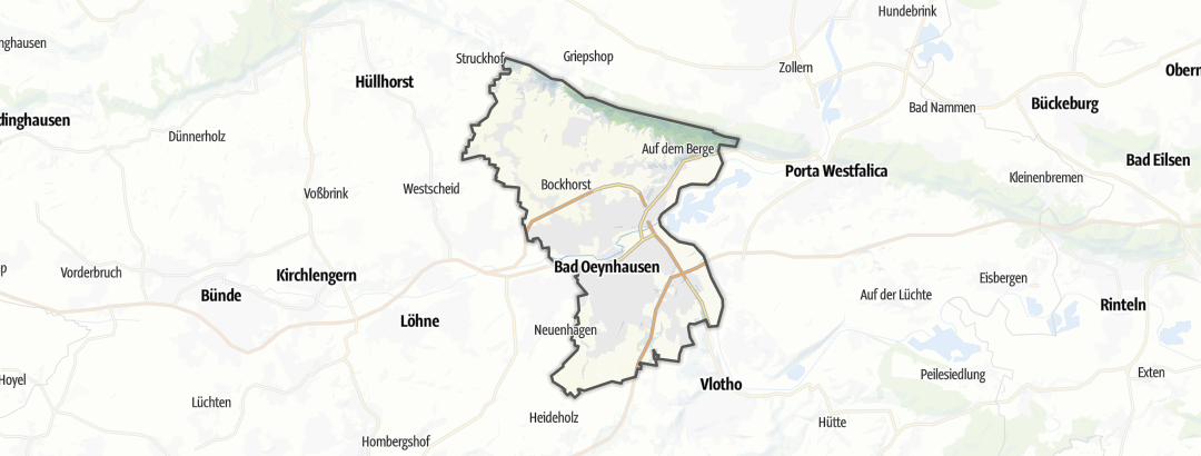 Karte / Wanderungen in Bad Oeynhausen