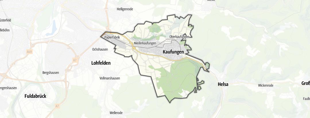 Karte / Touren in Kaufungen