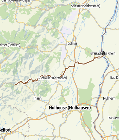 Carte / Tourenplanung am 5. August 2014