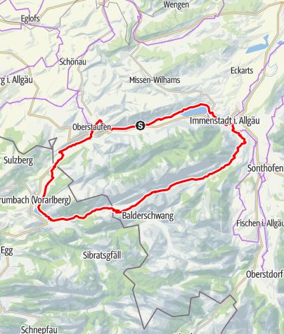 Karte / Nagelfluhkette MTB