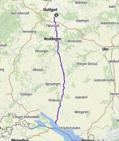 Karte / Stuttgart-Bodensee