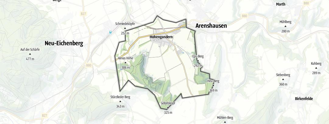 Karte / Radfahren in Hohengandern
