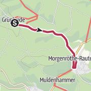 Karte / Barrierefreier Wanderweg von Grünheide bis Morgenröthe - Rautenkranz