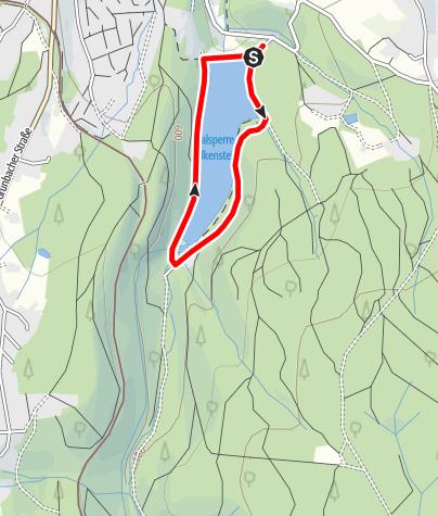Karte / Barrierefreier Rundwanderweg um die Talsperre Falkenstein